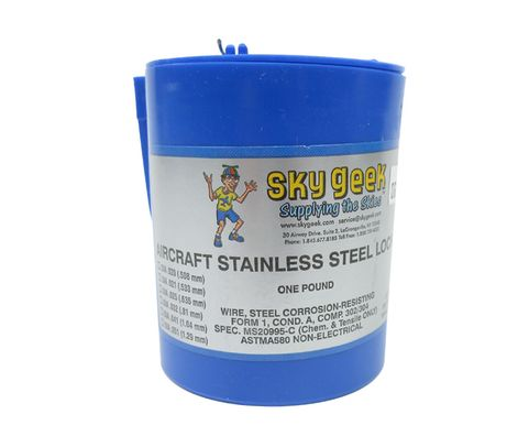 "Military Standard MS20995C60 Stainless Steel 0.060"" Diameter Safety Wire - 1 lb Roll"