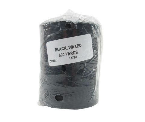 Military Specification A-A-52081-B-3 Black Polyester/Waxed Finish Tape, Lacing & Tying Cord - 500 Yard Spool