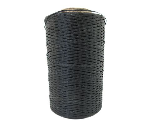 Military Specification A-A-52081-C-5 Black Polyester/Synthetic Rubber Finish Tape, Lacing & Tying Cord - 500 Yard Spool