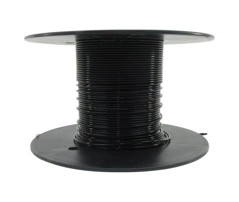 Military Specification M22759/11-12-0 Black 12 AWG PTFE Tapes/Coated Fiberglass Braid Wire - Sold per Foot