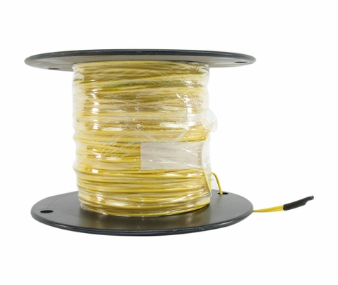 Military Specification M22759/11-16-4 Yellow 16 AWG PTFE Tapes/Coated Fiberglass Braid Wire - Sold per Foot