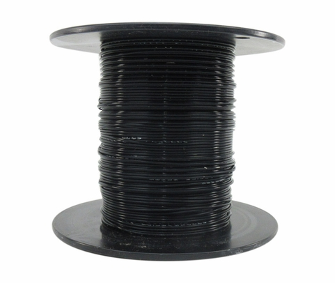 Military Specification M22759/11-18-0 Black 18 AWG PTFE Tapes/Coated Fiberglass Braid Wire - Sold per Foot