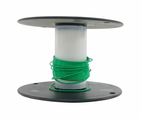 Military Specification M22759/11-18-5 Green 18 AWG PTFE Tapes/Coated Fiberglass Braid Wire - Sold per Foot