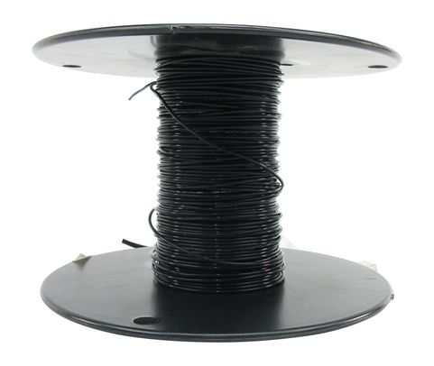 Military Specification M22759/11-20-0 Black 20 AWG PTFE Tapes/Coated Fiberglass Braid Wire - Sold per Foot