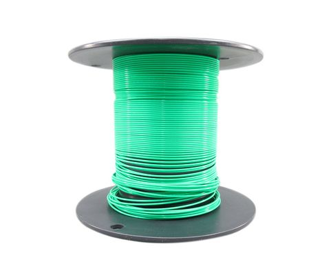 Military Specification M22759/11-20-5 Green 20 AWG PTFE Tapes/Coated Fiberglass Braid Wire - Sold per Foot