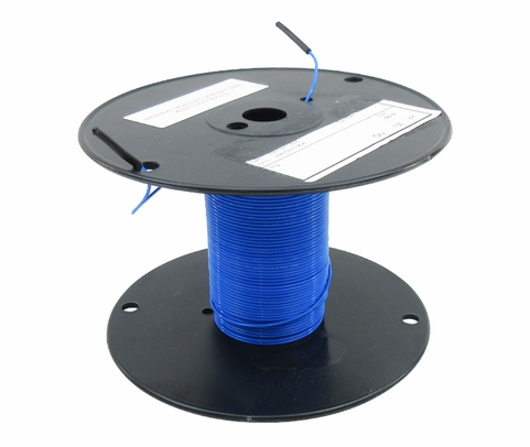 Military Specification M22759/11-20-6 Blue 20 AWG PTFE Tapes/Coated Fiberglass Braid Wire - Sold per Foot