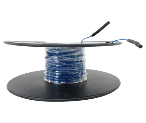 Military Specification M22759/11-22-6 Blue 22 AWG PTFE Tapes/Coated Fiberglass Braid Wire - Sold per Foot