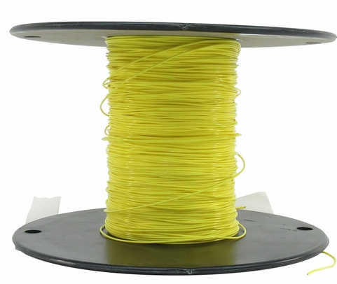 Military Specification M22759/11-26-4 Yellow 26 AWG PTFE Tapes/Coated Fiberglass Braid Wire - Sold per Foot