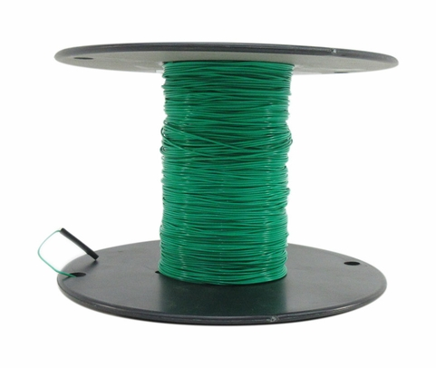 Military Specification M22759/11-26-5 Green 26 AWG PTFE Tapes/Coated Fiberglass Braid Wire - Sold per Foot