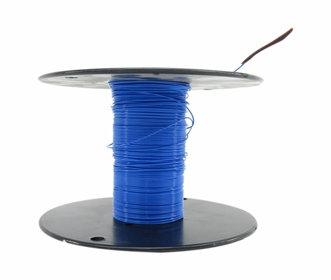 Military Specification M22759/11-26-6 Blue 26 AWG PTFE Tapes/Coated Fiberglass Braid Wire - Sold per Foot