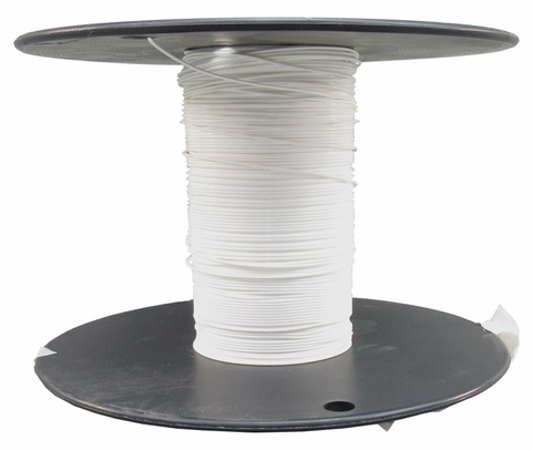 Military Specification M22759/11-26-9 White 26 AWG PTFE Tapes/Coated Fiberglass Braid Wire - Sold per Foot