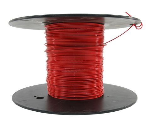 Military Specification M22759/16-16-2 Red 16 AWG PTFE Tapes/Coated Fiberglass Braid Wire - Sold per Foot