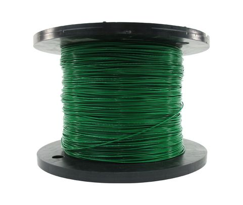 Military Specification M22759/16-16-5 Green 16 AWG PTFE Tapes/Coated Fiberglass Braid Wire - Sold per Foot
