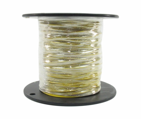 Military Specification M22759/16-20-4 Yellow 20 AWG PTFE Tapes/Coated Fiberglass Braid Wire - Sold per Foot