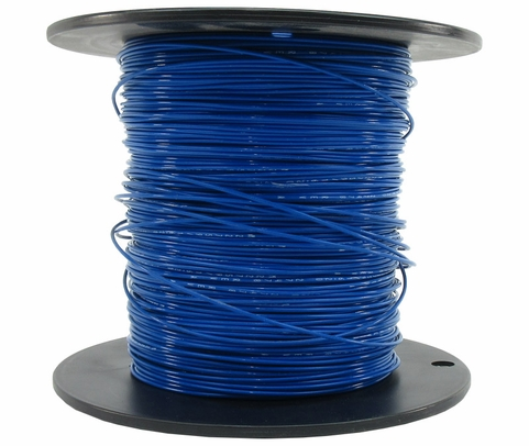 Military Specification M22759/16-20-6 Blue 20 AWG PTFE Tapes/Coated Fiberglass Braid Wire - Sold per Foot