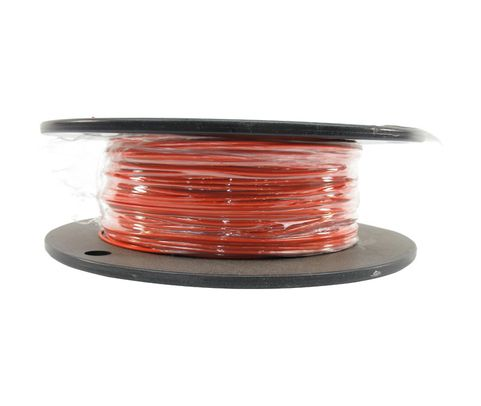 Military Specification M22759/16-22-3 Orange 22 AWG PTFE Tapes/Coated Fiberglass Braid Wire - Sold per Foot