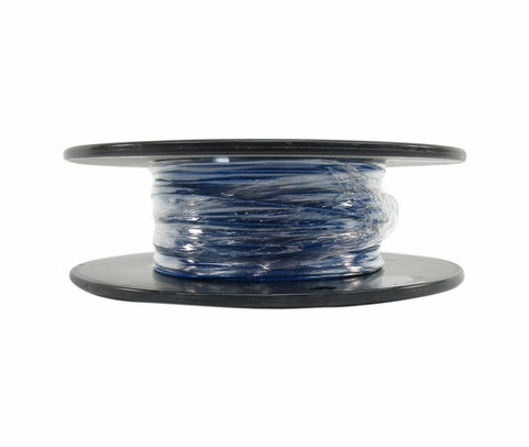 Military Specification M22759/16-22-6 Blue 22 AWG PTFE Tapes/Coated Fiberglass Braid Wire - Sold per Foot
