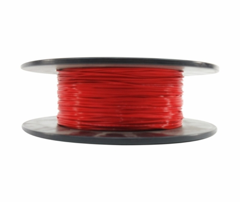 Military Specification M22759/16-24-2 Red 24 AWG PTFE Tapes/Coated Fiberglass Braid Wire - Sold per Foot