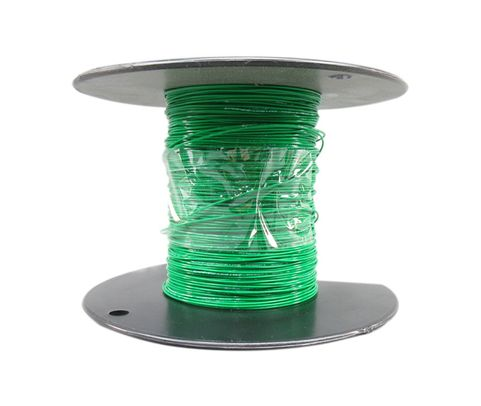 Military Specification M22759/16-24-5 Green 24 AWG PTFE Tapes/Coated Fiberglass Braid Wire - Sold per Foot