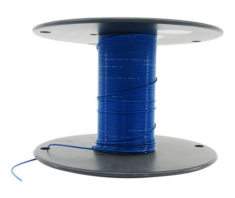 Military Specification M22759/16-24-6 Blue 24 AWG PTFE Tapes/Coated Fiberglass Braid Wire - Sold per Foot