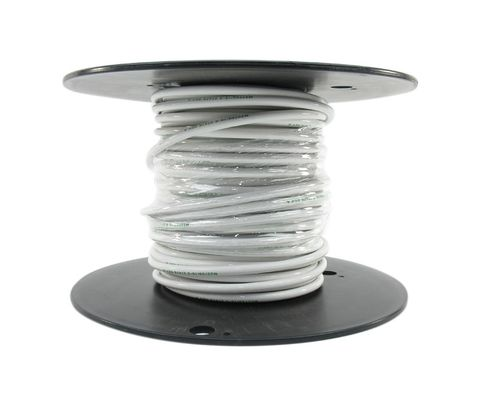 Military Specification M22759/16-6-9 White 6 AWG PTFE Tapes/Coated Fiberglass Braid Wire - Sold per Foot