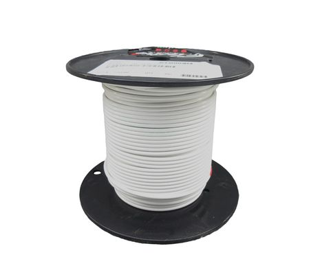 Military Specification M22759/34-10-9 White 10 AWG PTFE Tapes/Coated Fiberglass Braid Wire - Sold per Foot