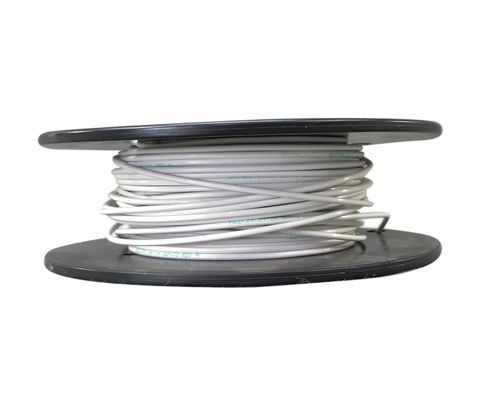 Military Specification M22759/34-14-9 White 14 AWG PTFE Tapes/Coated Fiberglass Braid Wire - Sold per Foot
