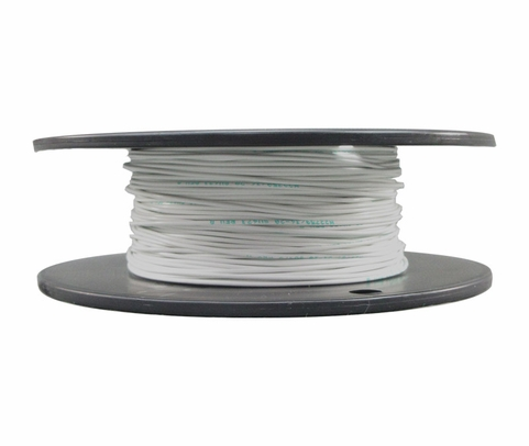 Military Specification M22759/34-20-9 White 20 AWG PTFE Tapes/Coated Fiberglass Braid Wire - Sold per Foot