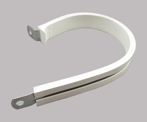 Military Standard MS21919WCH40 Stainless Steel Cushioned Clamp, Loop