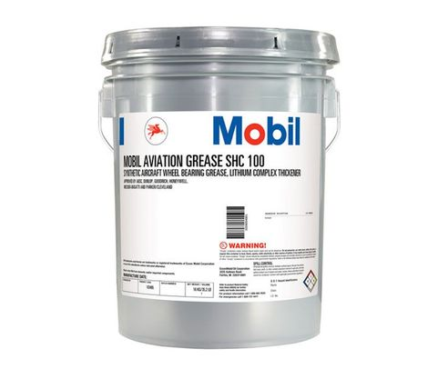 Exxon Mobil SHC 100 Synthetic Aviation Grease - 16 Kg (35 lb) Pail