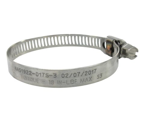 National Aerospace Standard NAS1922-0175-3 Stainless Steel Hex Head Clamp, Hose