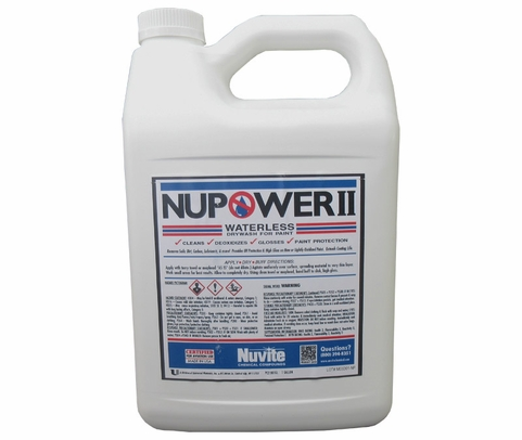 Nuvite PC21901 NuPower II Waterless Cleaning Aircraft Dry Wash/Polish Paint Protectant - Gallon Bottle