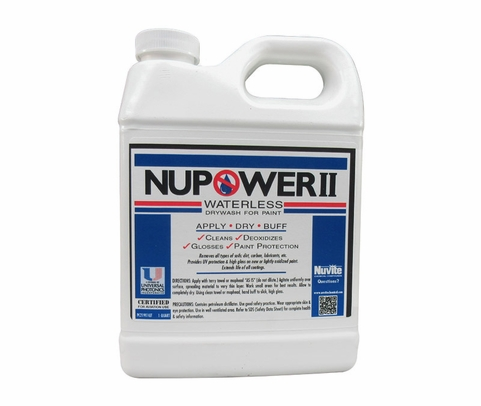 Nuvite PC21901 NuPower II Waterless Cleaning Aircraft Dry Wash/Polish Paint Protectant - Quart Jug
