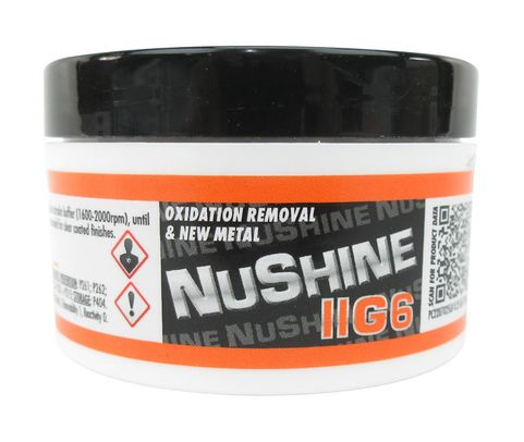 Nuvite PC2207025LB Nushine II Grade G6 New Metal/Serious Oxidation Removal Metal Polishing Compound - 1/4 lb Jar