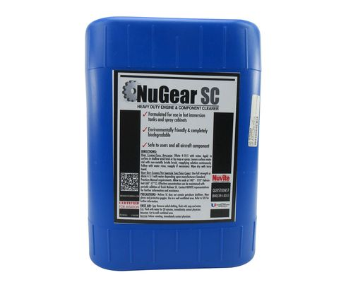 Nuvite PC22095GL NuGear SC Heavy-Duty Immersion Tank Aqueous Degreasing Compound - 5 Gallon Pail