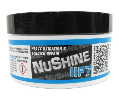 Nuvite PC2221050LB Nushine II Grade F7 Light Corrosion, Blending Scratches & Pitting Metal Polishing Compound - 1/2 lb Jar