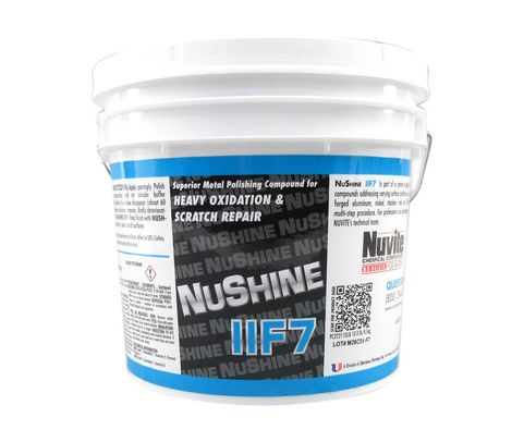Nuvite PC222110LB Nushine II Grade F7 Light Corrosion, Blending Scratches & Pitting Metal Polishing Compound - 10 lb Pail