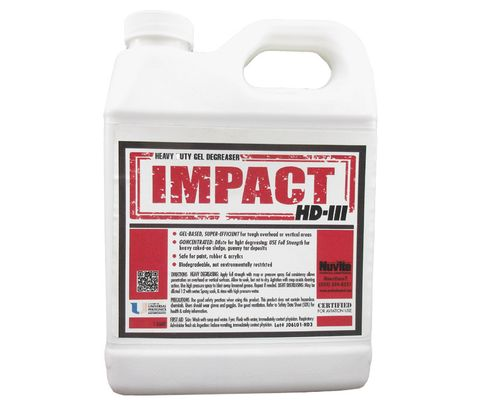Nuvite PC22611QT Impact HD III Gel-Based Biodegradable Aircraft Heavy-Duty Degreaser & Cleaner - Quart Jug