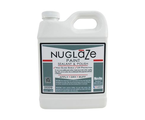 Nuvite PC22751QT NuGlaze PolyFluoro Sealant Aircraft Paint Glosser & UV Protectant - Quart Jug