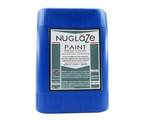 Nuvite PC22755GL NuGlaze PolyFluoro Sealant Aircraft Paint Glosser & UV Protectant - 5 Gallon Pail