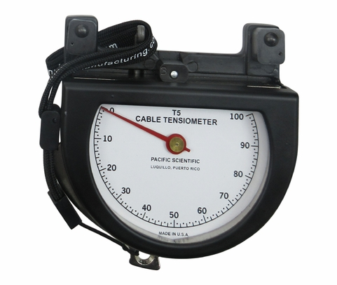 """Pacific Scientific T5-2002-104-00 Black Dial Indicating 1/16"""" to 1/4"""" & 30-300 lbs Cable Tensiometer"""