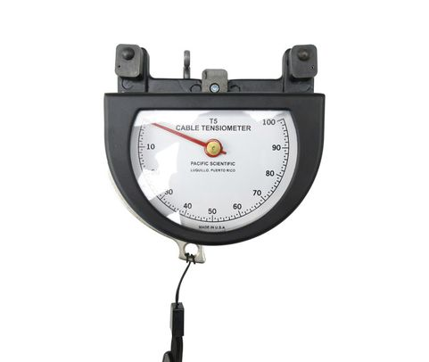 """Pacific Scientific T5-2004-113-00 Black Dial Indicating 1/16"""" to 1/8"""" & 10-100 lbs Cable Tensiometer"""