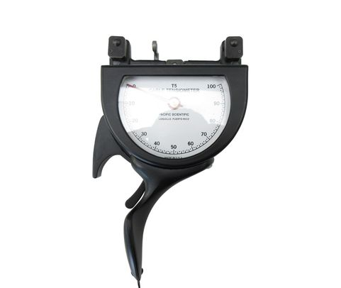"""Pacific Scientific T5-8002-104B-00 Black Dial Indicating 1/16"""" to 3/16"""" & 5-300 lbs Cable Tensiometer"""