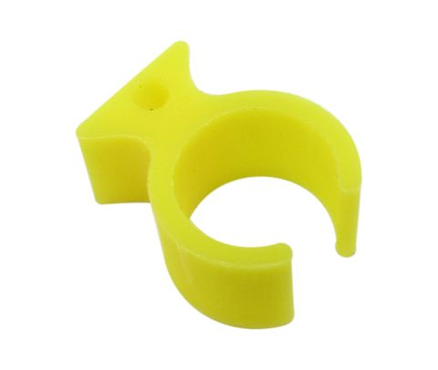 Paco Plastics S4933959-513 FAA-PMA Yellow Circuit Breaker Lockout Ring with Hole - without Tag