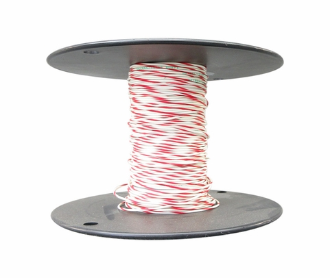 Military Specification M81044/12-20-92 White/Red Stripe 20 AWG XL-PVDF Tin Coated Copper Lead Wire - Sold per Foot