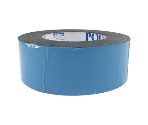 POLYKEN® 108FR-2BLK Black BMS 5-133G Type II, Class 2 Spec Double-Coated Flame Retardant Carpet Tape - 48mm x 23 Meter Roll