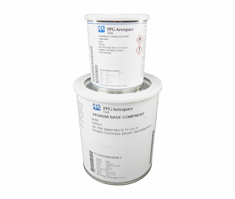 PPG Aerospace® Deft® 44GN098 Green MIL-PRF-85582 Type I Class N Spec Chrome Free Water Reducible Epoxy Primer - Gallon Kit