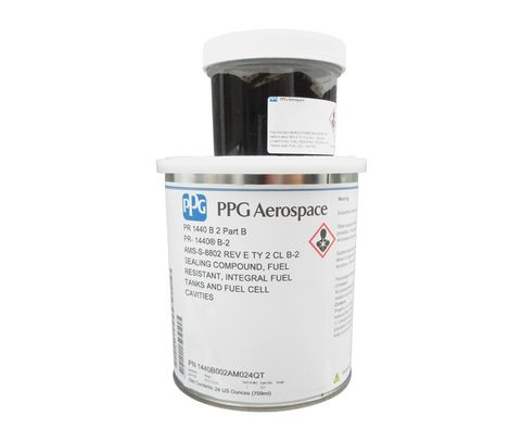 PPG Aerospace® PR-1440 B-2 Gray AMS-S-8802D Type 2, Class B-2 Spec Fuel Tank Sealant - Quart Kit