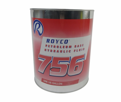 ROYCO� 756 Red MIL-PRF-5606H Amend. 3 Spec Mineral Oil Based Aircraft Hydraulic Fluid - Gallon Can