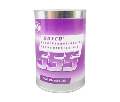 ROYCO® 555 Amber DOD-PRF-85734 Spec Synthetic Helicopter Transmission & Turbine Engine Oil - Quart Can